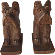 Carved Scotty Bookends, Japan