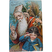 Father Christmas Old World Postcard, 1906