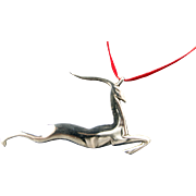 Sterling Gazelle Handmade Christmas Ornament/ Pendant