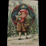 Christmas Angel with Presents Postcard, 1907