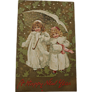 SOLD Tuck's Happy New Year Postcard, 1908