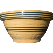 Yellow Ware Crock Bowl
