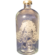 Etched Bath Salt Bottle