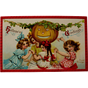 Halloween Postcard, Frances Brundage, 1910