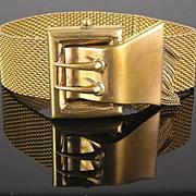 SALE Victorian Revival Faux Buckle Clasp with Chain Dangles Bracelet