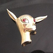 "SALE Sterling Silver Signed ""BB"" Circa 1940's Adorable Deer Brooch"