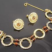 SALE Miriam Haskell Channel Set RS Bracelet & Earrings
