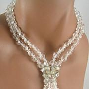 SALE Marcel Boucher Crystal & Baguette Rhinestone Necklace