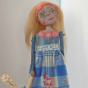 SOLD Sweet one of a kind Folk art doll