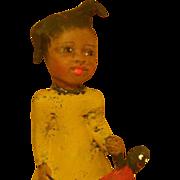 SOLD Black primitive doll by Jude Kapron