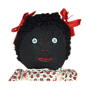 Vintage Black stockinette hand made doll
