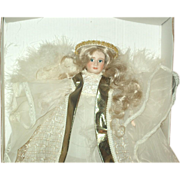 SALE Bisque Angel tree topper by Cindy McClure
