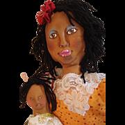 Great Folk art Black dolls