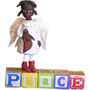 SOLD Black Angel of Peace OOAK by Jude Kapron