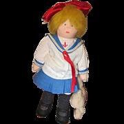 Vintage adorable Sailor girl cloth artist doll