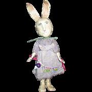 SOLD Primitive sculpted Bunny Rabbit OOAK