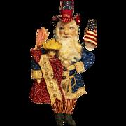 SOLD Amazing  Uncle Sam Santa