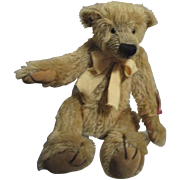 Charming distressed mohair Bear by Russ