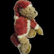 Vintage Santa bear so cute