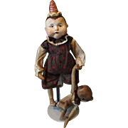 Adorable boy with Teddy bear by Patty Cake Primitives