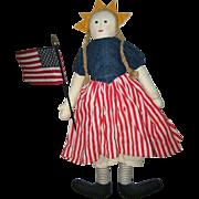 Great patriotic cloth doll artist made