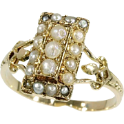 SALE Victorian Pearl and Gold Ring ca.1880