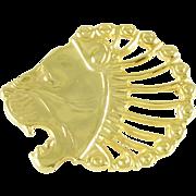 Vintage 14k Gold Figural Lion Head Pendant Brooch - Metropolitan Museum of Art MMA
