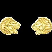Vintage 14k Gold Figural Lion Head Earrings - Metropolitan Museum of Art