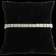 Vintage Art Deco Diamond 14k White Gold Line Bracelet