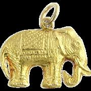 Vintage Figural 14k Elephant Charm Pendant