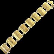 Lovely Vintage Chinese 8-Panel Link Bracelet in 14k
