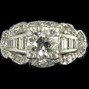Vintage Art Deco 0.99ct Old European Cut Diamond Center VS2 HI Engagement Wedding Ring - Video