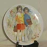 """Limoges Collector Plate """"Emilie et Philippe"""" Bradex No. 18.52-1.1"""