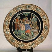 Large German Pottery Charger