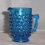 Blue Hobnail Miniature Pitcher