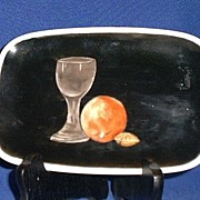 Hand Painted Tray With Still Life