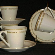 Set Of Four Syralite Cups And Saucers By Syracuse China