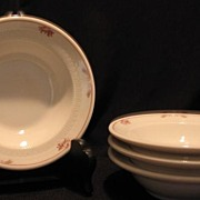"""Set Of Four """"Brentwood"""" Syracuse China Sauce Or Fruit Bowls"""