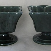 SALE Pair Of Pottery Vases Marked 411-U.S.A.