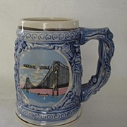 Mackinac Bridge Souvenir Ceramic Stein