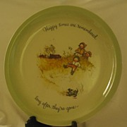 """""""Holly Hobbie"""" First Series Plate From American Greetings Corp."""
