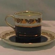 Aynsley Bone China Demitasse Cup And Saucer.