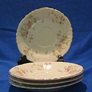 """Three """"Stansbury"""" Pattern Saucers From Syracuse China"""