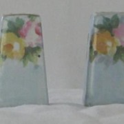 Porcelain Flower Decorated Salt And Pepper Shakers
