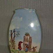 SALE Early German Handpainted Vase