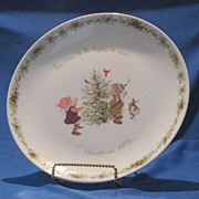 Holly Hobbie Plate From Christmas 1973