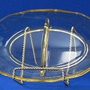 Depression Glass Yellow Relish Dish