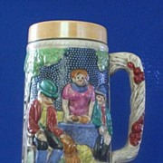 Large Ceramic Stein With Luster Bands