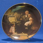 """SOLD """"Grandpa's Treasure Chest"""" By Norman Rockwell"""