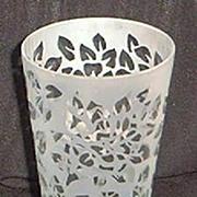 SALE Torch Acid Etched Crystal Vase